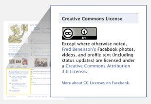 Aplikacja Creative Commons naFacebooku