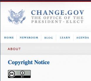 Prezydent-elekt Barack Obama stosuje licencje CC